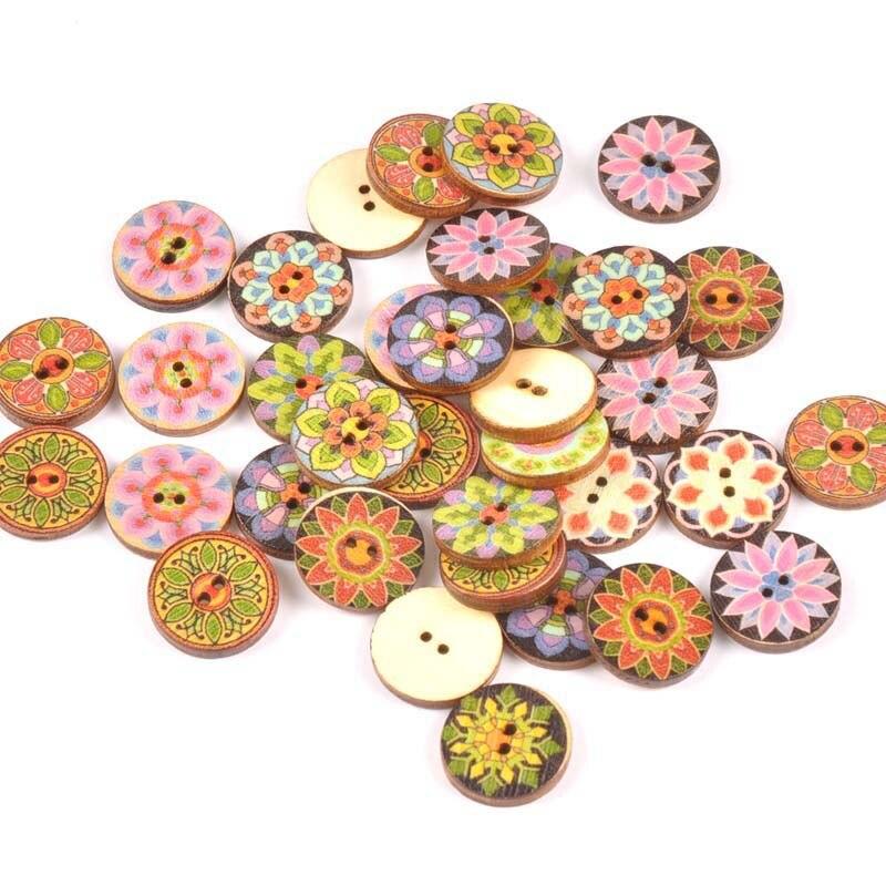 20 шт./лот ручная работа деревянные пуговицы окрашенные Швейные аксессуары популярные швейные изделия - Цвет: 4