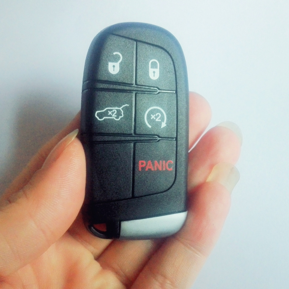 Smart <font><b>key</b></font> shell 5 button with logo for Chrysler For <font><b>jeep</b></font> For Dodge car <font><b>remote</b></font> control <font><b>key</b></font> case shell image