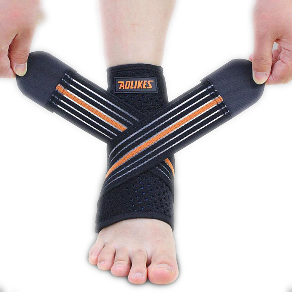 1pcs Sport Breathable Ankle Brace Protector Adjustable Ankle Support Pad Protection Elastic Brace Guard Support Football adjustable sport magnetic keen protection pad brace black