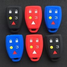 silicone car key cover case for volvo s40 remote 5button key