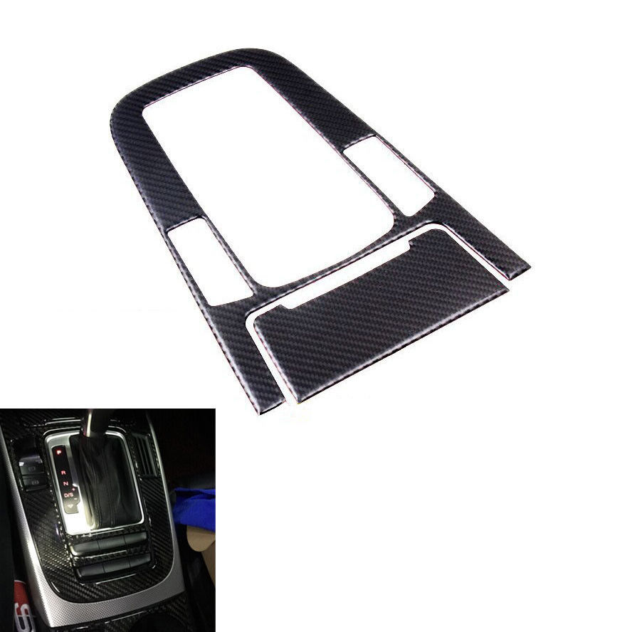 BBQ@FUKA Car Console Gear Shift Box Panel Cover Trim Interior Styling Sticker Carbon Fiber Fit For Audi A4L A5 Q5