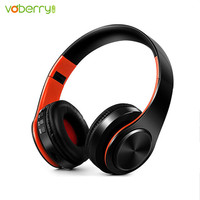 VOBERRY New Arrival Colorful Stereo Audio Mp3 Bluetooth Headset Foldable Wireless Headphones Earphone Support SD Card