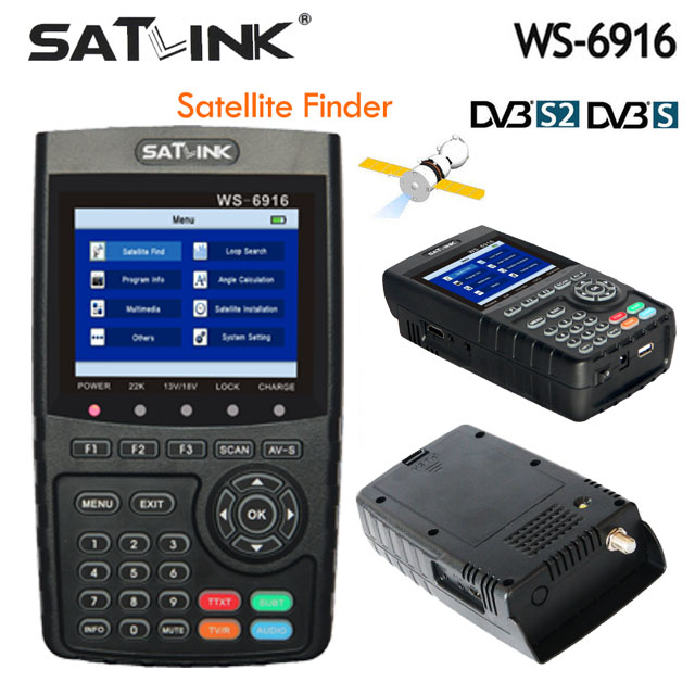 Original Satlink WS-6916 Satellite Finder DVB-S2 MPEG-2/MPEG-4 Satlink 6916 High Definition Satellite meter TFT LCD Screen satlink ws 6916 satellite finder dvb s2 mpeg 2 mpeg 4 3 5 inch high definition satellite meter tft lcd screen pk v8 finder