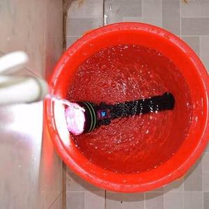 Image 5 - עמיד למים 12 x XM L2 20000 לום LED פנס צלילה מתחת למים מנורת לפיד 100m Scuba Diver Lanterna + 3*18650 Batery + מטען