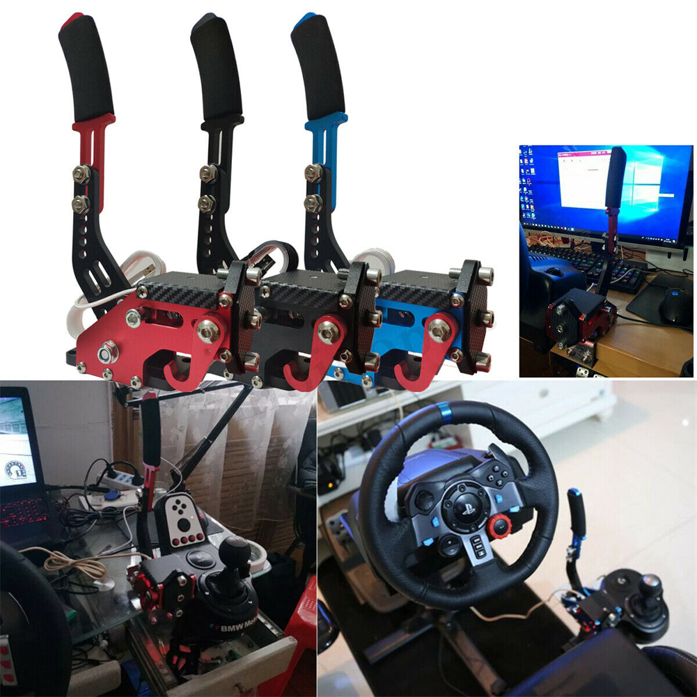14Bit Universal Replacement Easy Install USB Handbrake Drift Sensor Control Adjustable Height Clamp For Racing Games