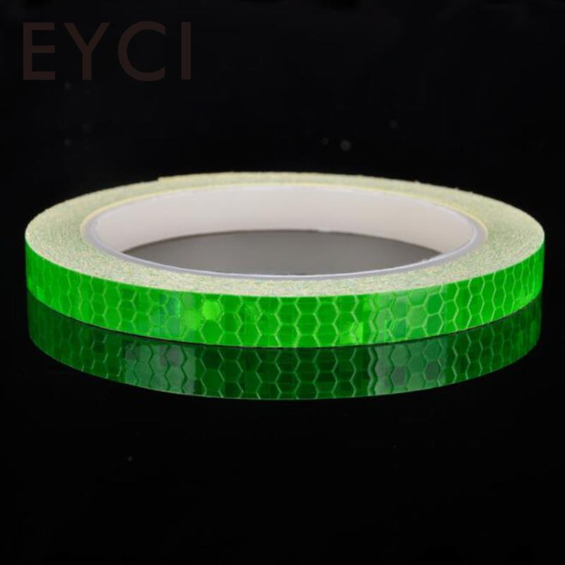 1M*8M Waterproof Reflective Sticker Safety Warning Tape Bicycle Reflective Stickers MTB Bike Motorcycle Fluorescent Decal Tape