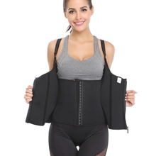 Neoprene Sauna Adjustable Shoulder Strap Waist Trainer Vest Body Shaper Cincher Belly Slim Shapewear With Zipper Hooks