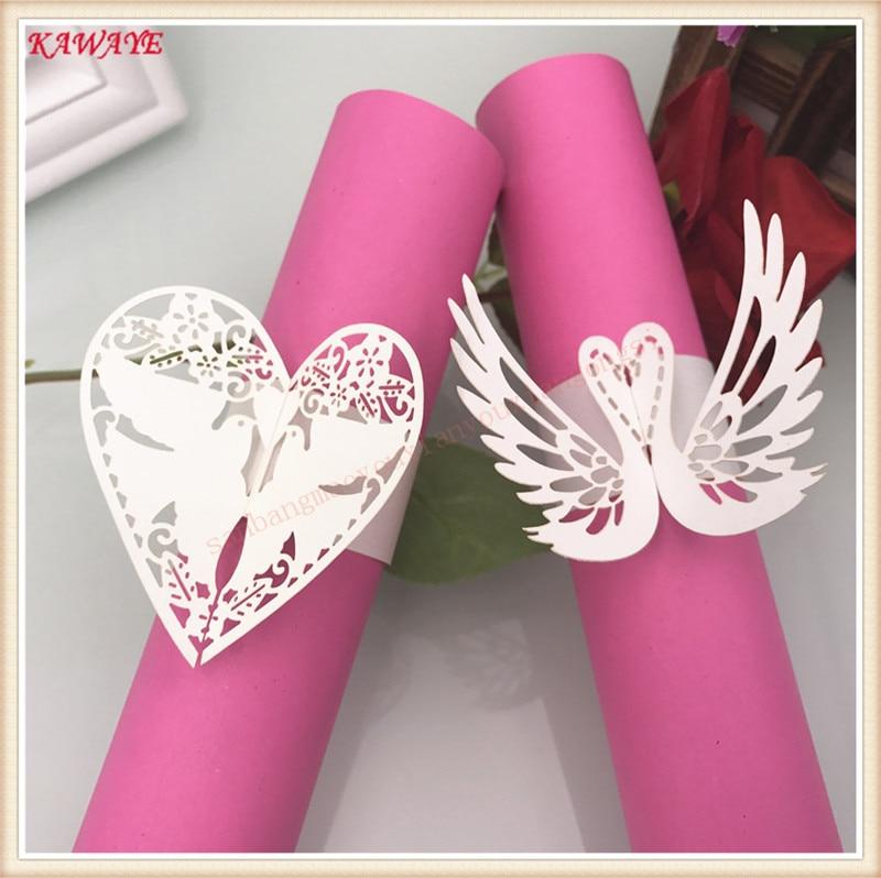25 Laser Butterfly Style Paper Napkin Ring Serviette Holder Wedding Table Décor