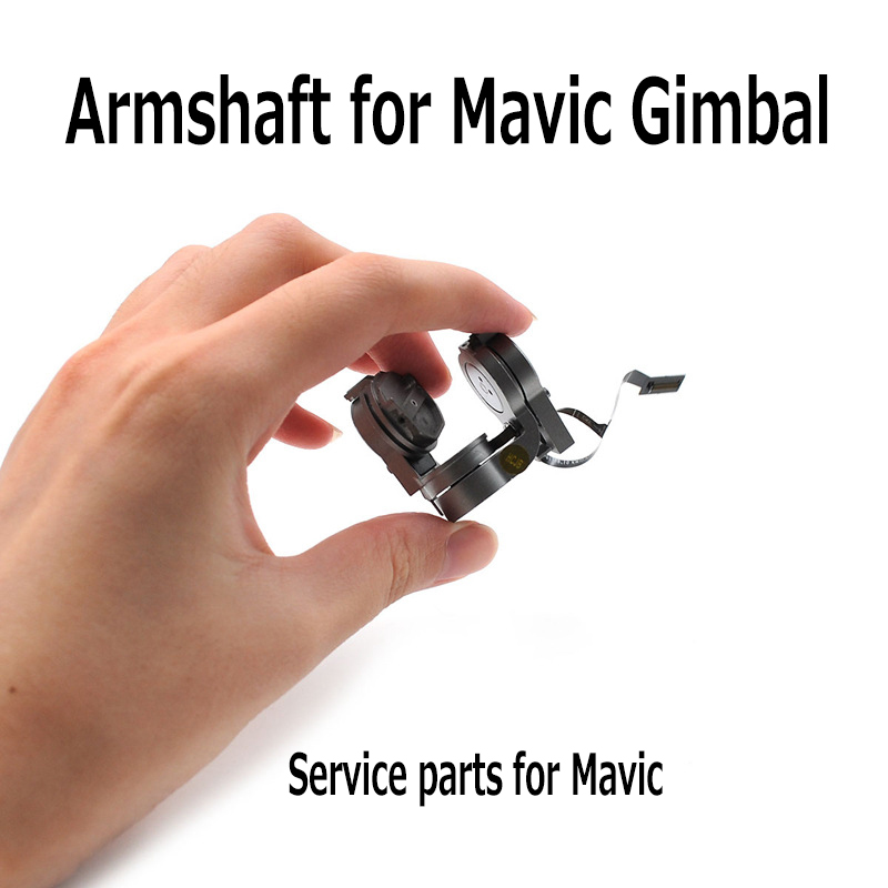 Gimbal Camera Armshaft w/ Flat Flex Cable Repair Parts for DJI Mavic Pro Drone Replace PTZ Camera Arm Service Parts