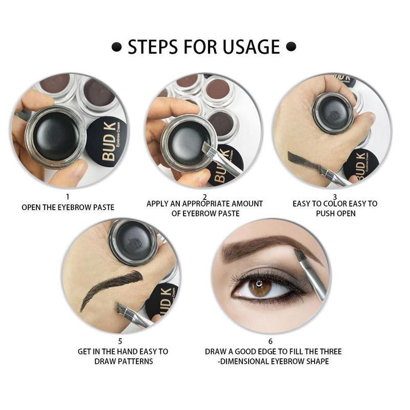 4 Colors Eyebrow Pomade Gel Enhancers Maquiagem Makeup Waterproof