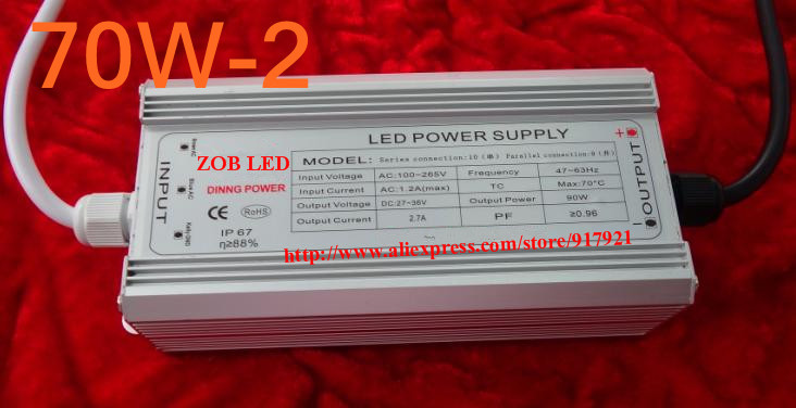 70w led driver DC54V,1.5A,high power led driver for flood light / street light,constant current drive power supply,IP65 200w led driver dc36v 6 0a high power led driver for flood light street light ip65 constant current drive power supply