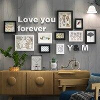 Massief Hout Grote Fotolijsten Moderne Woonkamer Mode Schilderen Fotolijst Set Houten Letter Home Wanddecoratie DIY