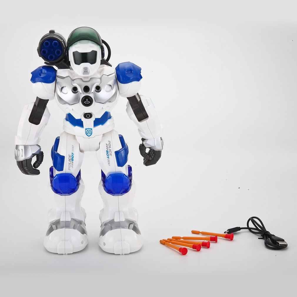 Программируемый боевой защитник Интеллектуальный RC робот танцы ходячий свет музыкальные детские игрушки с пультом дистанционного управления подарки на день рождения