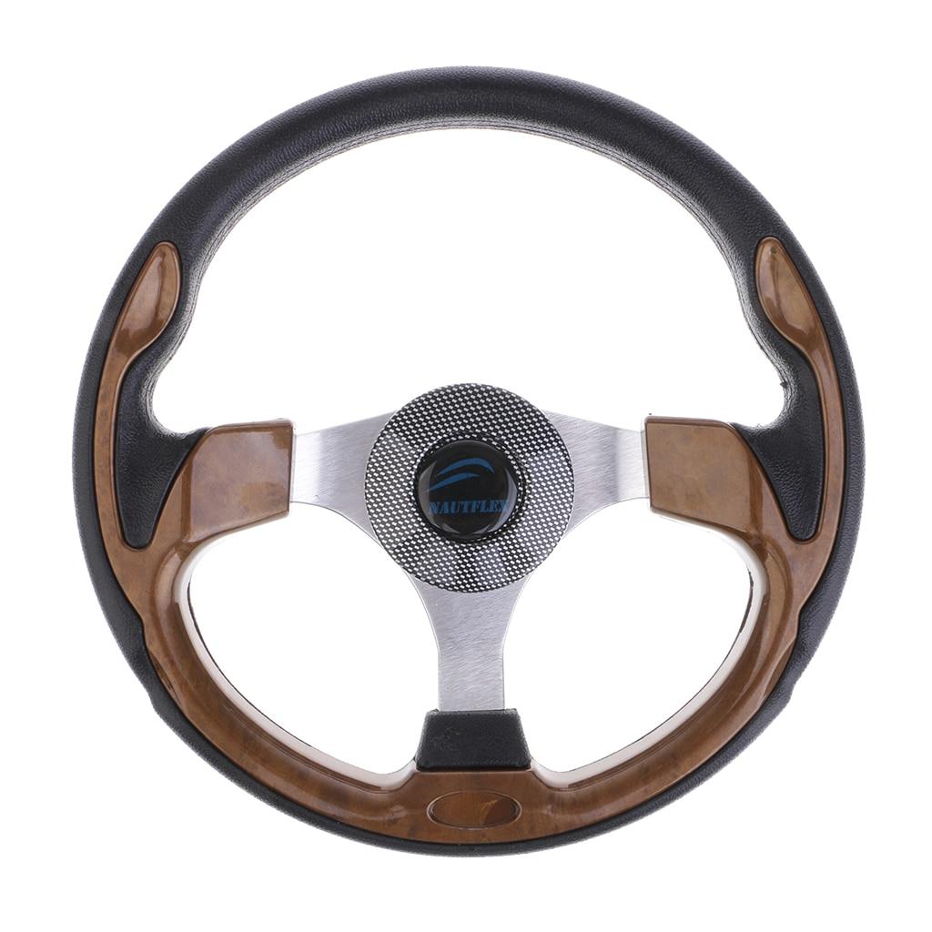 Universal 320mm 3 Spoke 3 4 Boat Steering Wheel for Marine Yacht Pontoon Boat Rib Speedboat