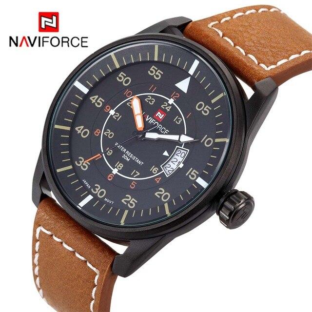 NAVIFORCE marca Relojes Cuarzo de Los Hombres Fecha Hora Reloj Masculino Deportes Reloj de Los Hombres Casual Reloj Militar Relogio Del Envío para el Regulador