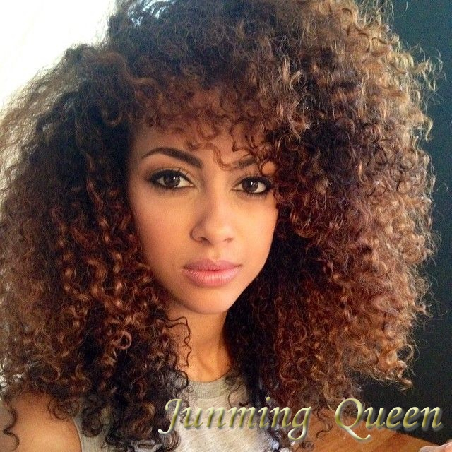 130 Density Afro Kinky Curly Ombre Full Lace Wigs Hair Two Tone