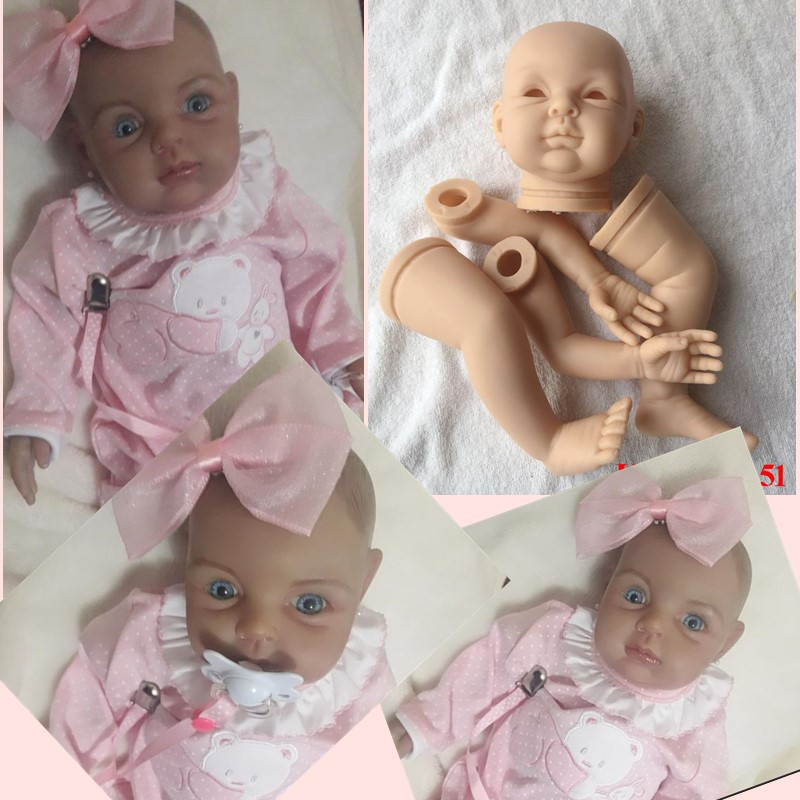 Reborn Doll Kits DK-51 for 22inches Soft Vinyl Reborn Baby Dolls Accessories for DIY Realistic Toys for DIY Reborn Dolls Kits face skin care electric vibrate facial cleansing brush wash machine rechargable soft silicone acne cleanser massager waterproof