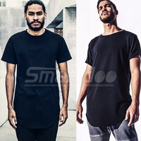 2016 Mens Big And Tall Clothing Designer Citi Trends Clothes T Shirt Homme Curved Hem Tee