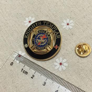 100pcs Custom Enamel Brooches and Pins Badge for Masonic Free Masons Crafts Delux Knight Templar large Lapel Pin