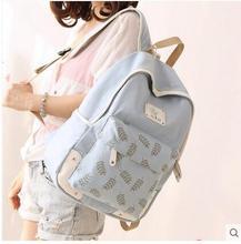 Холст сумка Женская японские и корейские студенты школьная сумка школа ветер путешествия рюкзак печати