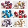 10pc/lot Crochet Round Wooden Beads crochet Knit Ball 16/20mm for decoration inside hot wooden teething crochet beads