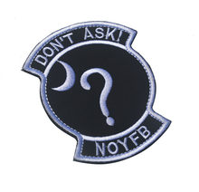 Ricamato non Chiedere A Nessuno Di Il Vostro Business NOYFB Patch divertente parole morale Militare patch Tattico badge per zaino(China)