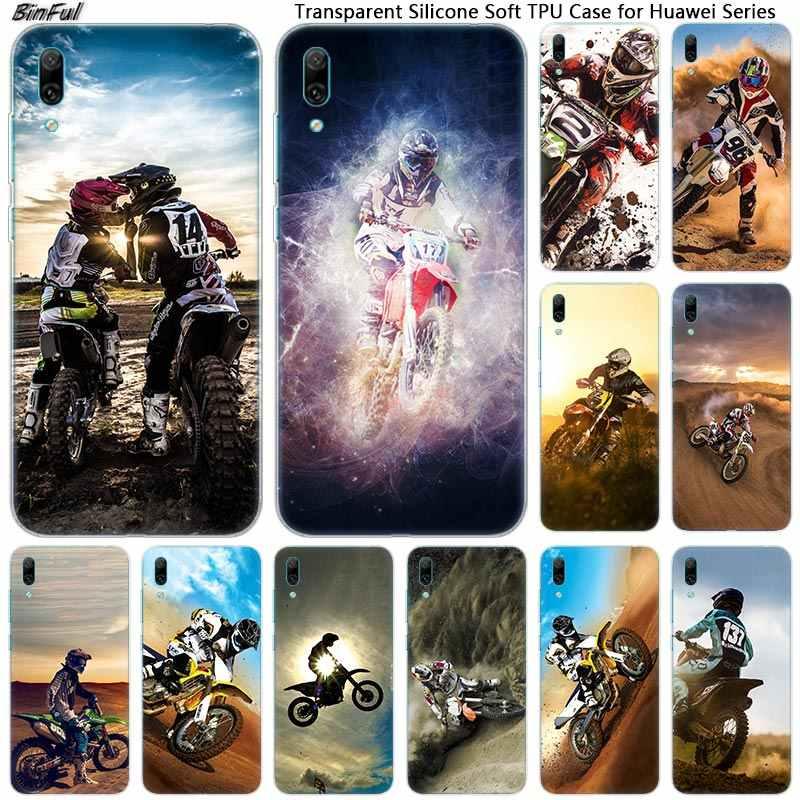 חם moto צלב moto rcycle ספורט רך סיליקון טלפון Case עבור Huawei Mate 10 20 לייט פרו ליהנות 9 S y9 Y7 Y6 Y5 2019 2018 פרו 2017