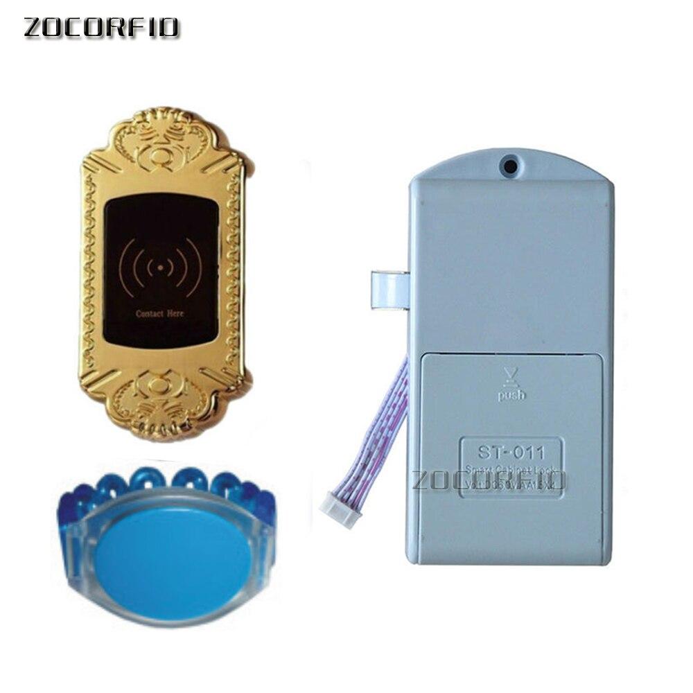 kovové skořápky natatorium 125KHZ RFID elektronický zámek na zámek + 1 vodotěsné ruční štítky