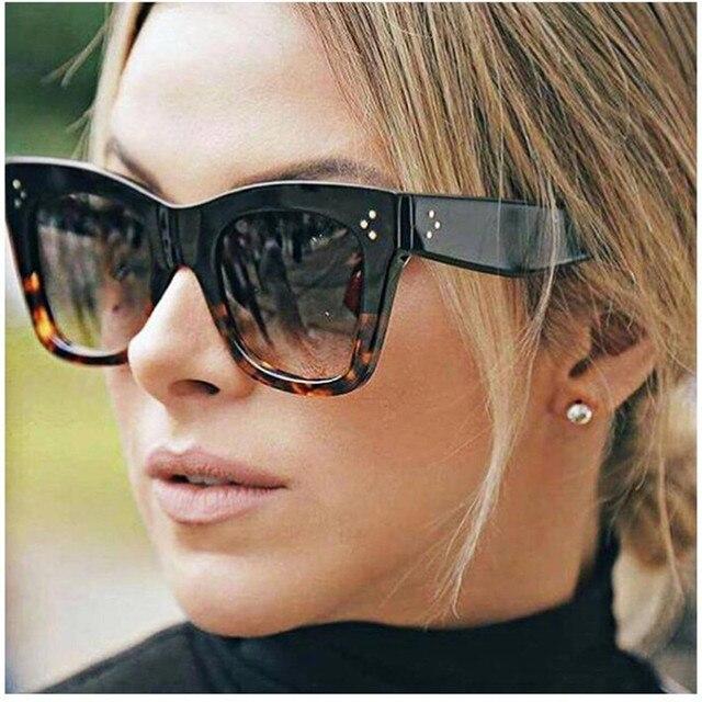 REALSTAR 2018 Vintage Cat Eye lunettes de Soleil Femmes Marque De Luxe  Designer De Mode Rivet 3cdb607d6d47