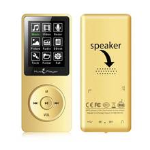 New portable MP3 player built-in 8G and Speaker support lossless sound music HD Recording FM Radio expand memory up to 128GB