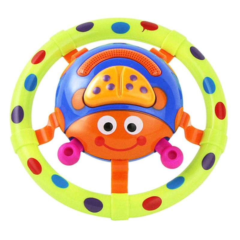 1 pcs baby toys with sound and light Cartoon ladybug baby toy children musical grasping little kids gift toys