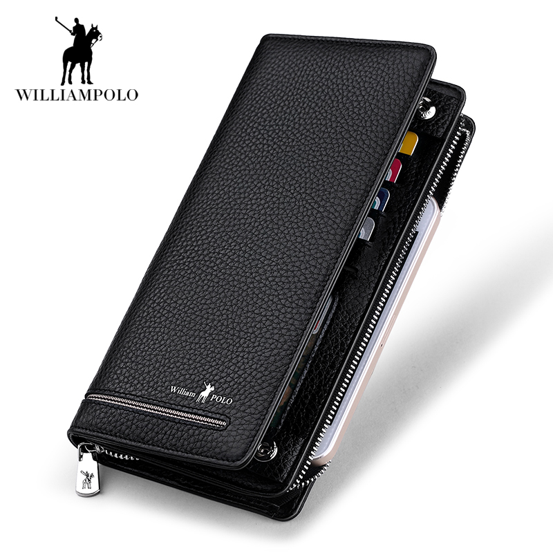 Men wallet Genuine Leather money clip phone Admission package High capacity Multi-bit Casual Clutch men purse Zipper&Hasp wallet men genuine leather wallet 2016 dollar price luxury famous designer high quality money clip men wallet