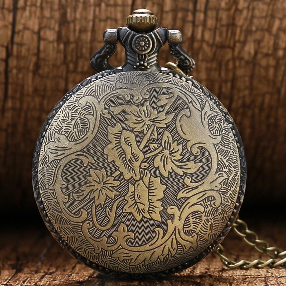 Antique Steampunk ACDC Hells Bell Quartz Pocket Watch Necklace Pendant Retro Men Women Xmas Gift (8)