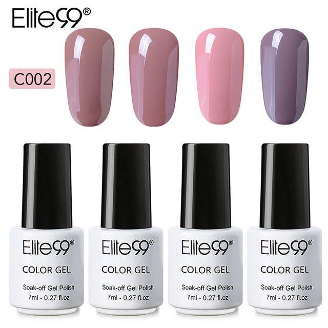 Elite99 7 ml LED UV GEL Nude Farbe Serie Gel Lack Lack Reine Farben Semi Permanent Gel Lack Nagel Primer 4 teile/los DIY