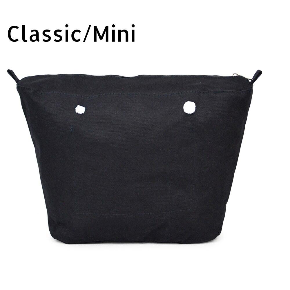 Nuovo rivestimento Interno Inserto Tasca Con Cerniera Per Il Classico Mini Obag Tela inserto con interno rivestimento impermeabile per O sacchetto