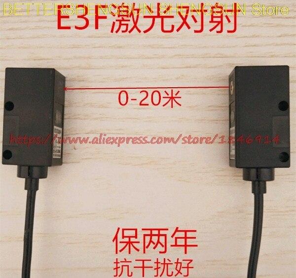 Carré E3F. laser à tirer. Capteur de commutateur photoélectrique souvent ouvert. Normalement fermé 0-20 anti interférence NPN. PNP. mètres