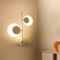 Modern Creative 360 Rotation Led Wall Lamp Bedroom Bedside Led Wall Light Stars Moon Indoor Wall Sconce Warm Light Free Shipping