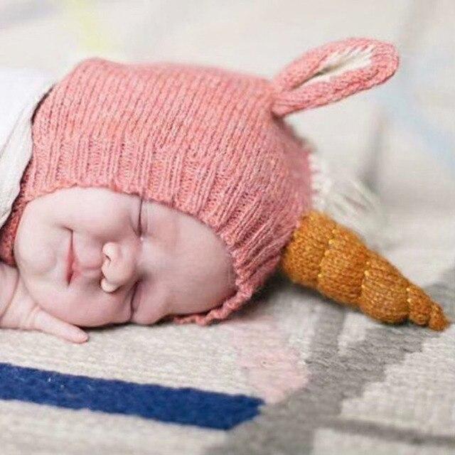 In Autumn And Winter hat New Children Unicorn Hat Hot Baby Warm Earmuffs Knit  Cap Newborn 23df91bd4cf