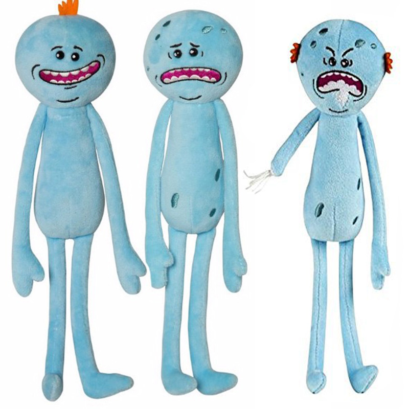 Rick and Morty 25cm Happy Sad Angry Meeseeks Stuffed Plush Toys Dolls For Kids Gift image