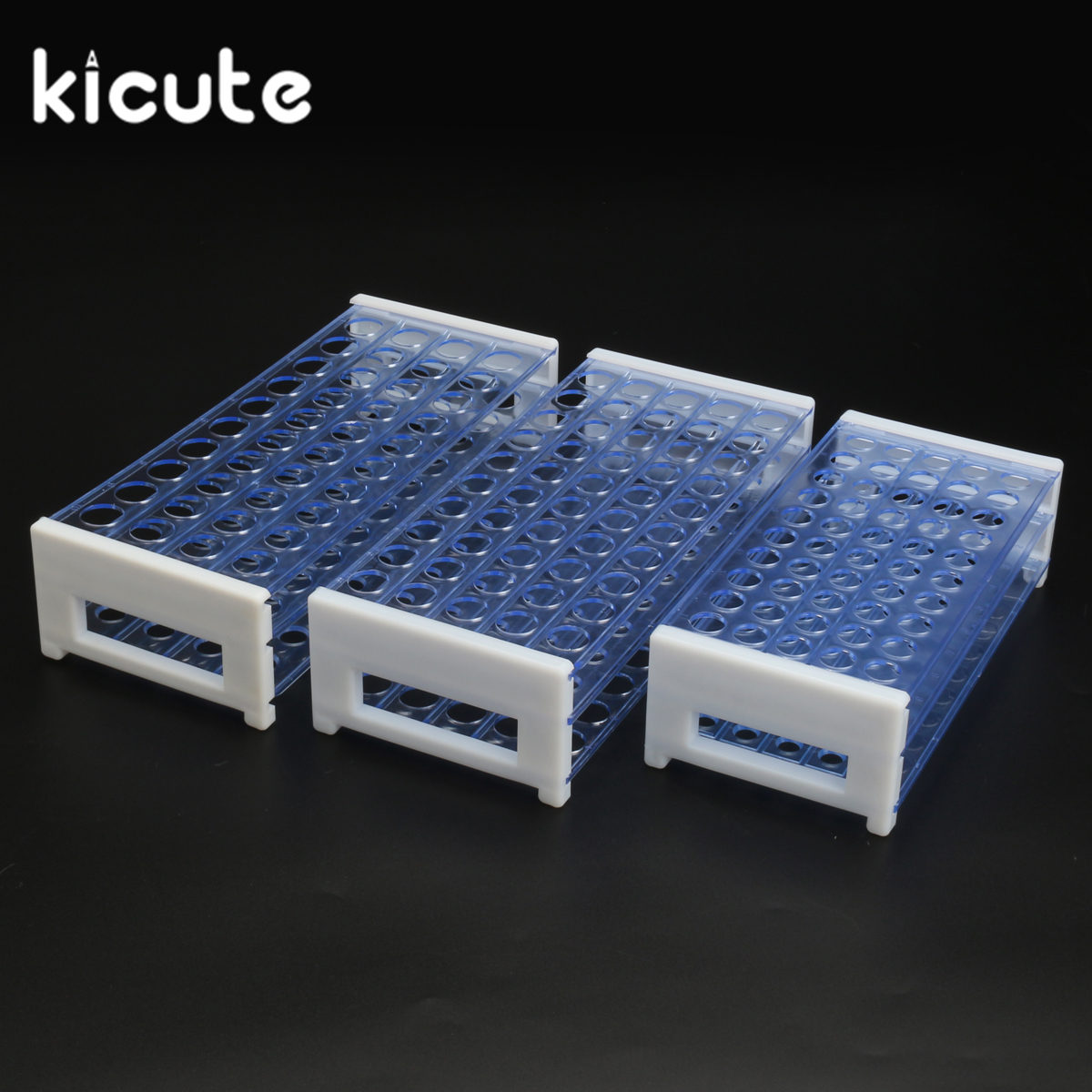 Kicute New 13mm 40Holes Plastic Test Tube Rack Holder Support Burette Stand Laboratory Test Tube Stand Shelf Lab School Supplies