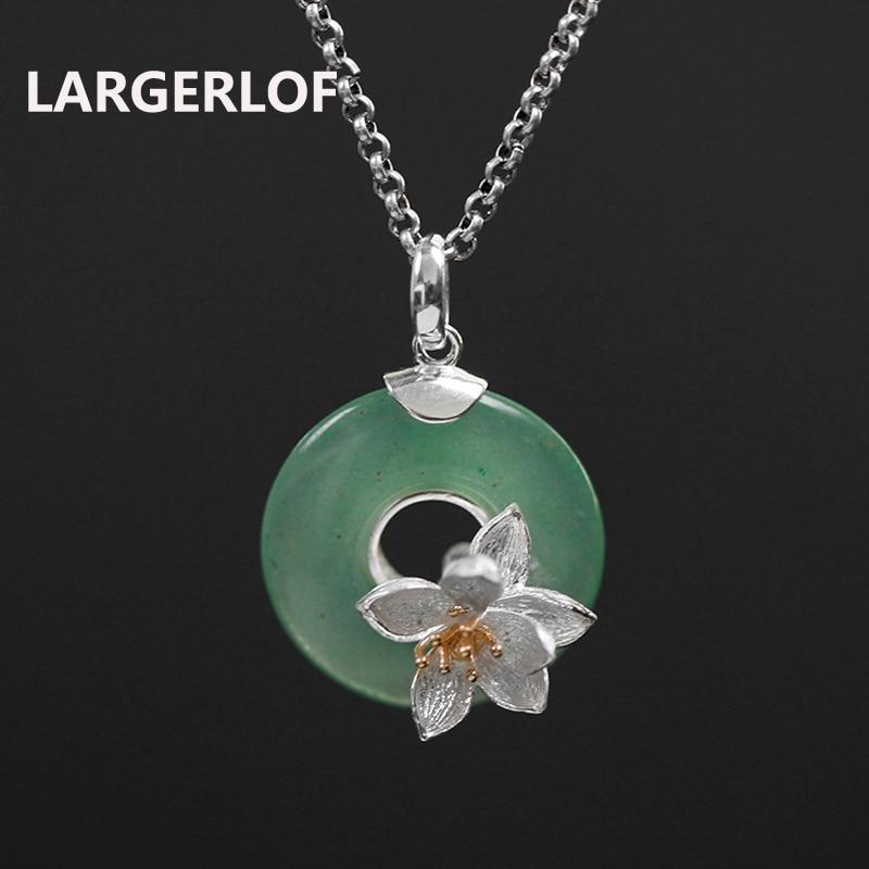LARGERLOF 925 colliers en argent Sterling pendentifs femmes bijoux fins en argent 925 bijoux Long pendentif collier PD50152