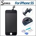 Для iPhone 5S Жк-Дисплей + Сенсорный Экран Digitizer Ассамблеи Замена Черный & Ремонт Инструментов