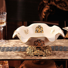 European home decoration ceramic crafts ornaments decal wedding creative gift fruit plate