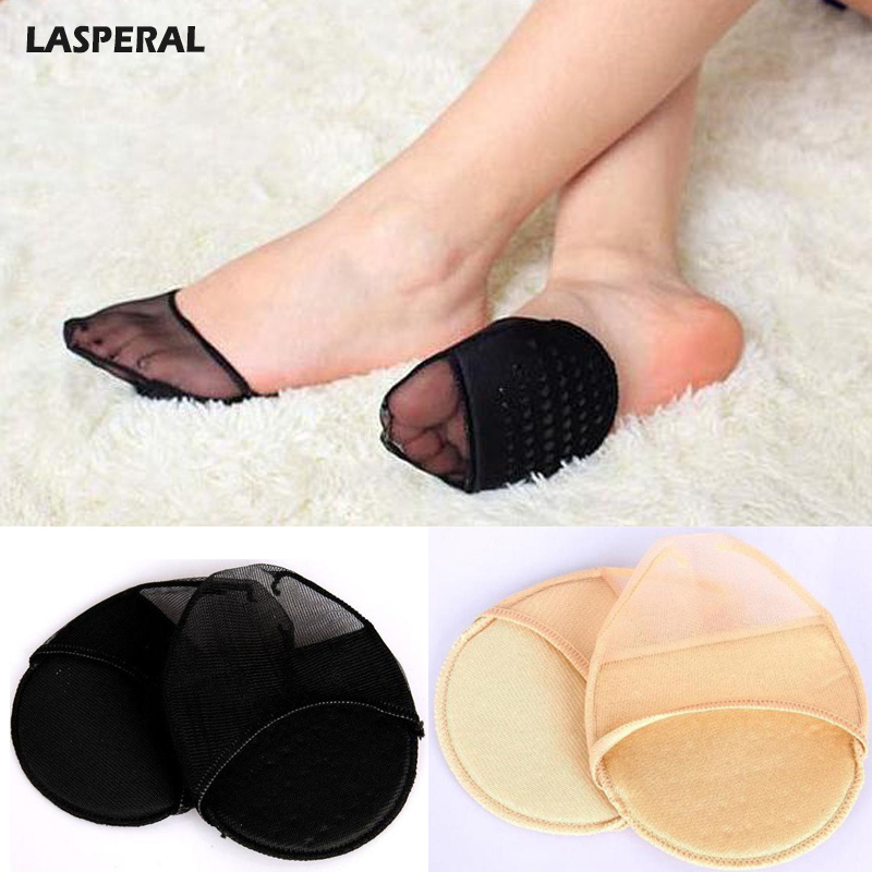 LASPERAL Women Socks Peds Accessories 1Pair Sweat Absorb Invisible Soft Foot Care Pad Women Forefoot Nursing Pad Socks Lady