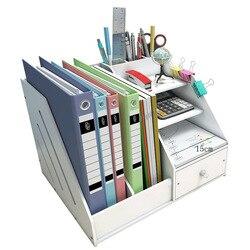 DIY офисные школьные принадлежности, аксессуары для стола, канцелярский стол, органайзер, лоток для файлов, журнал, макияж, карандаш, органайз...