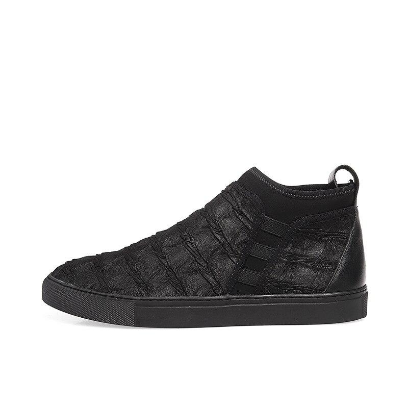 52c05311823a Boots Bottines Haute Cuir Daim Chelsea Militaires Tout Décontractées Vache  chaussures Hommes Talons Automne Chaussures Véritable ...
