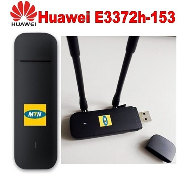 Huawei e3372 e3372h-153 4G LTE USB Dongle USB Stick Datacard Mobile Broadband USB Modems Plus 2pcs antenna