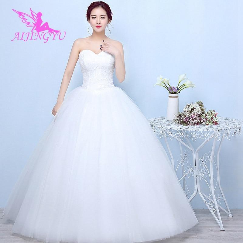 AIJINGYU 2018 Mermaid Free Shipping New Hot Selling Cheap Ball Gown Lace Up Back Formal Bride Dresses Wedding Dress FU162