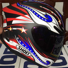 SHOEI X12 casco de moto casco lleno bandera Americana gloria ojos grandes. Capacete