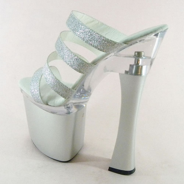 55ba7d97e6f0 Sexy Glitter 18cm Ultra High Heels Sandals Fashion 7 Inch Platforms ...